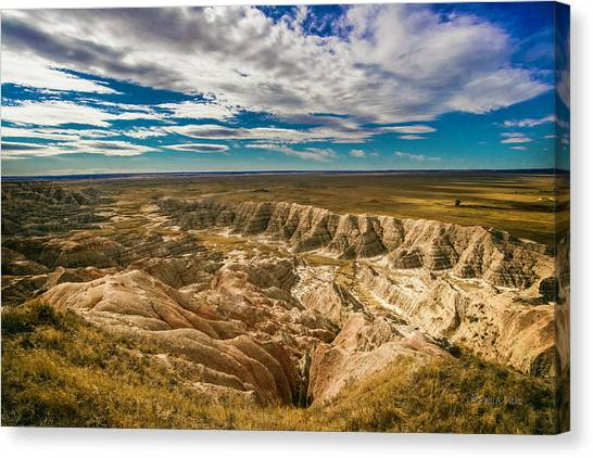 South Dakota Bad Lands.... Canvas Print
