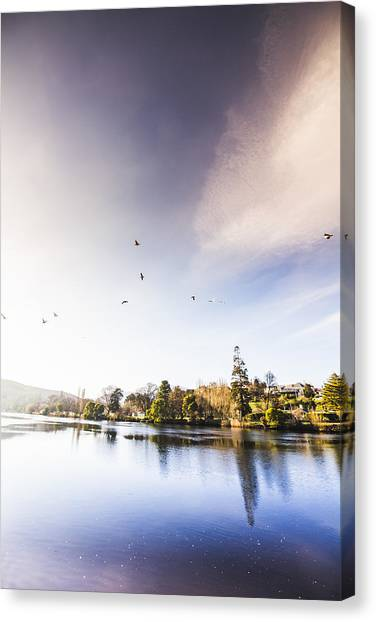 Canvas Print featuring the photograph South-east Tasmania River Landscape by Jorgo Photography - Wall Art Gallery