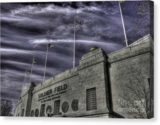 Soldier Field Canvas Print - South End Soldier Field by David Bearden