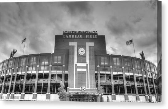 Green Bay Packers Canvas Print - South End Zone Lambeau Field by James Darmawan