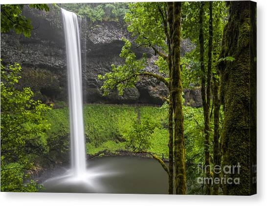South Falls In Silver Falls State Park Canvas Print