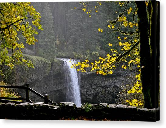 South Falls Of Silver Creek Canvas Print
