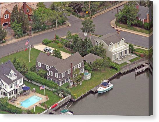 South Lagoon House Mantoloking New Jersey Canvas Print