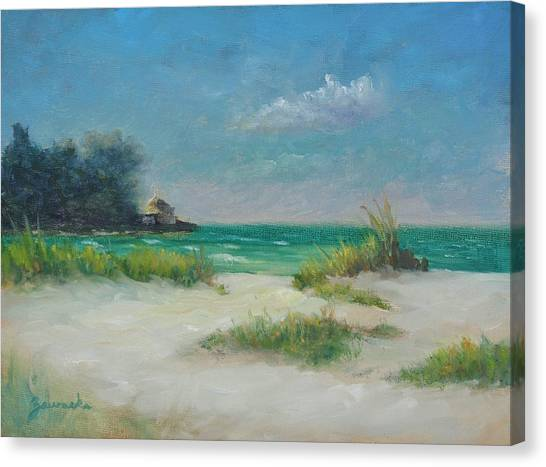 South Lido Morning By Alan Zawacki  Canvas Print