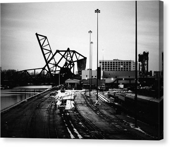 South Loop Railroad Bridge Canvas Print