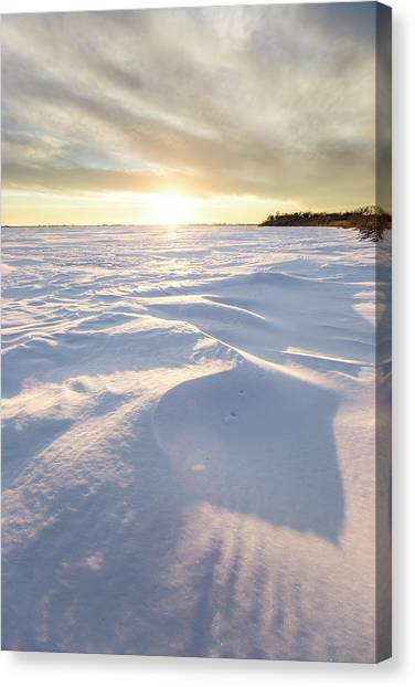Lake Sunsets Canvas Print - South Of Heaven  by Aaron J Groen