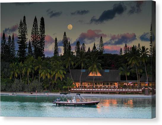 South Pacific Moonrise Canvas Print