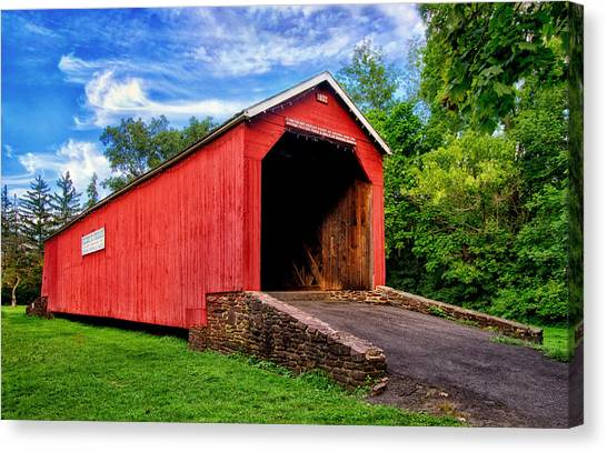 South Perkasie Covered Bridge Canvas Print