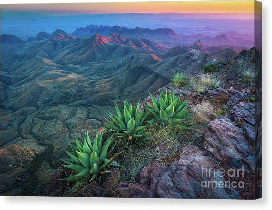 Big West Canvas Print - South Rim Sunset by Inge Johnsson