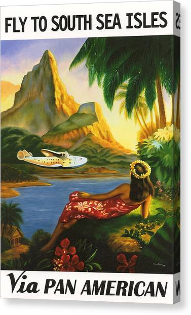 Coconut Canvas Print - South Sea Isles by Georgia Fowler