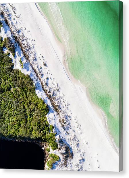 South Walton Dune Barrier Aerial Canvas Print
