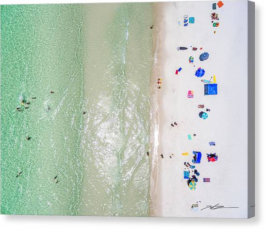South Walton Surfline Fun Canvas Print