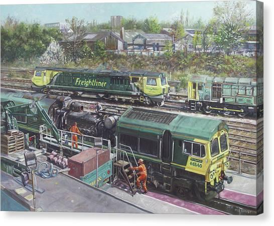 Southampton Freightliner Train Maintenance Canvas Print