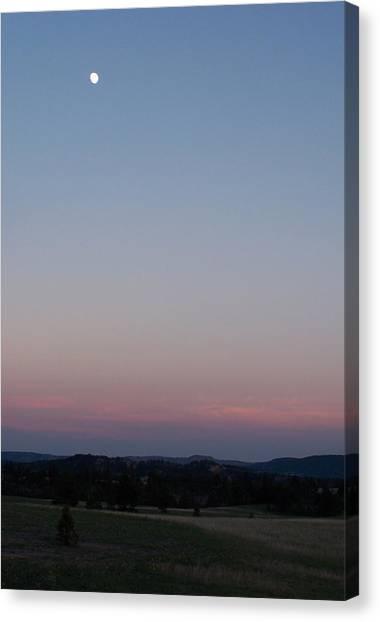 Southern Black Hills Moon Canvas Print