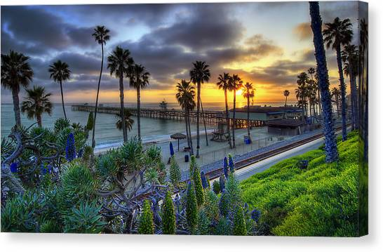 Pacific Coast Canvas Print - Southern California Sunset by Sean Foster