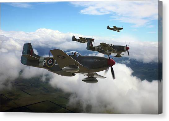 P51 Canvas Print - Southern Cross Mustangs by Mark Donoghue