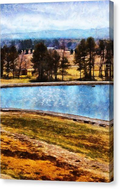 Southern Farmlands Canvas Print