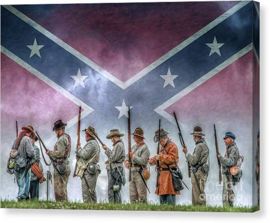 Confederate Army Canvas Print - Southern Heritage Southern Pride by Randy Steele