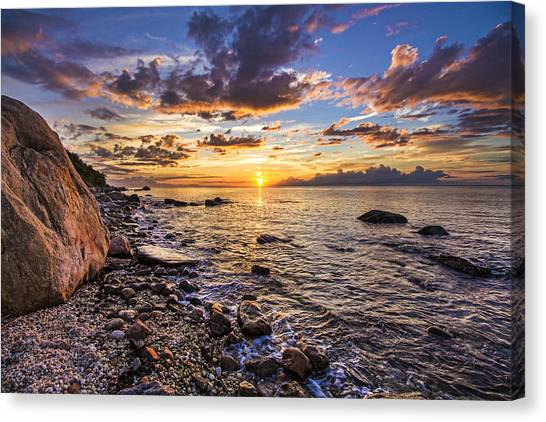 Southold Sunset Canvas Print