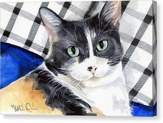 Southpaw - Calico Cat Portrait Canvas Print