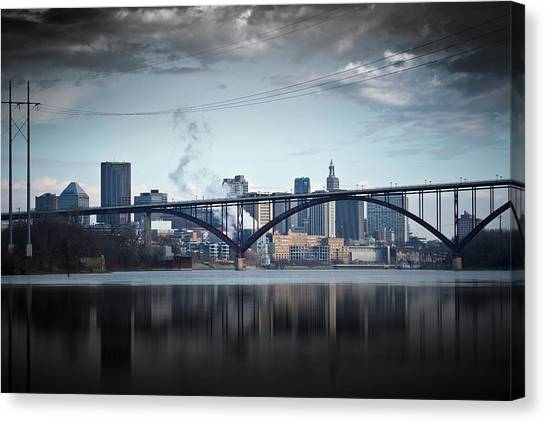 Minnesota Twins Canvas Print - Southside And The High Bridge by Matthew Blum