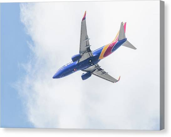 Southwest Airlines With A Heart Canvas Print