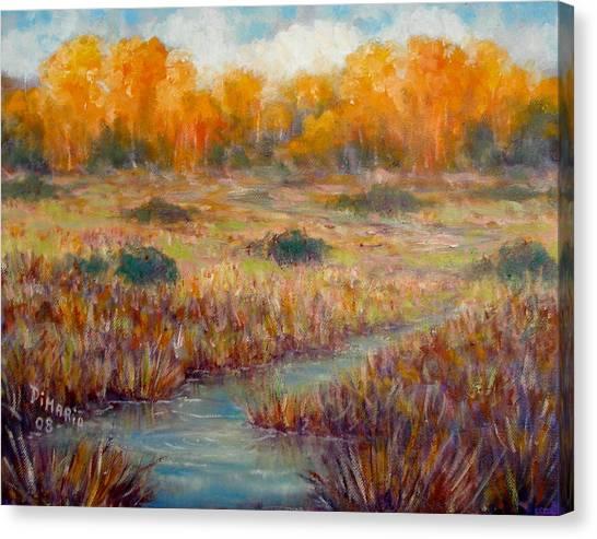 Southwest Autumn Canvas Print by Donelli  DiMaria