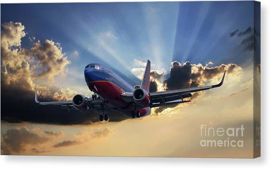 Southwest Dramatic Rays Of Light Canvas Print