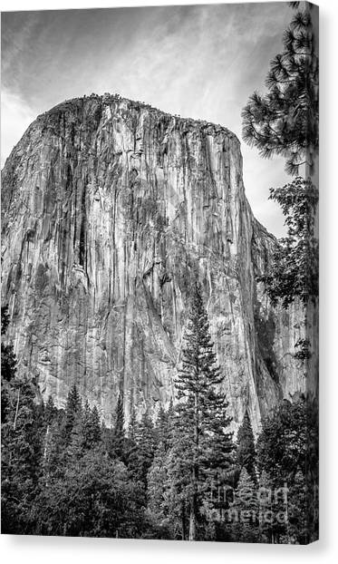 Southwest Face Of El Capitan From Yosemite Valley Canvas Print