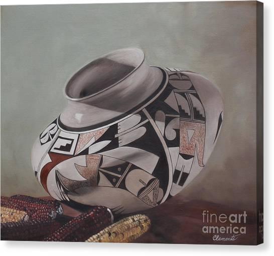 Southwest Indian Pot Canvas Print