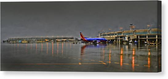 Southwest Plane In The Rain Canvas Print
