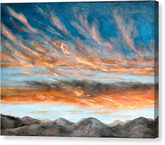 Southwest Sunset Canvas Print by Merle Blair