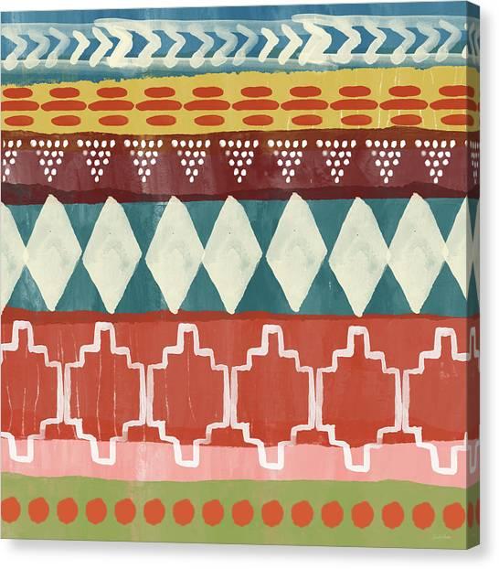 Pattern Canvas Print - Southwestern 1- Art By Linda Woods by Linda Woods