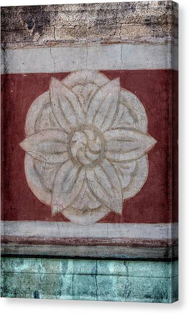 Architectural Detail Canvas Print - Southwestern Floral Medallion by Carol Leigh