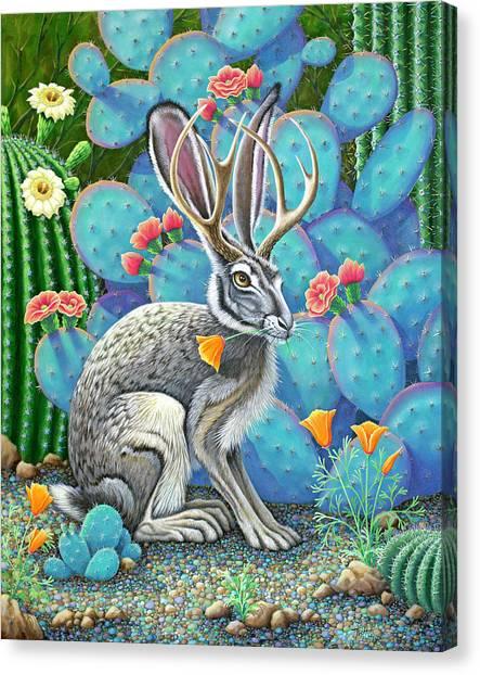 Southwestern Jackalope Canvas Print