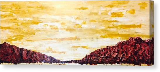 Southwestern Mountain Range Canvas Print