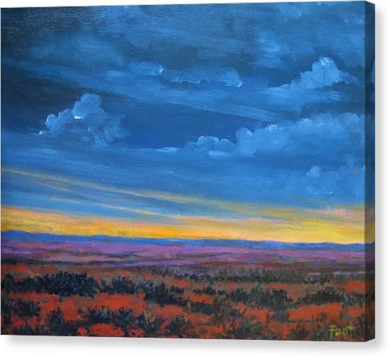 Southwestern Sunset Canvas Print by Gene Foust