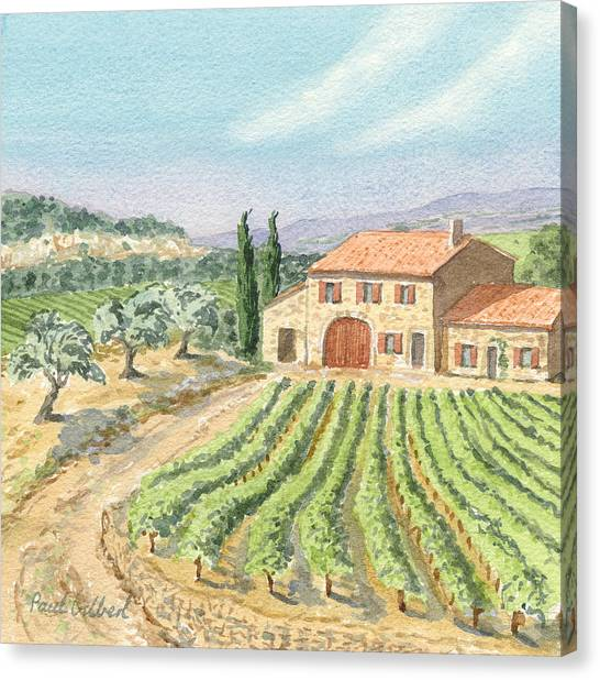 Souvenires Du Midi II Canvas Print by Paul Gilbert