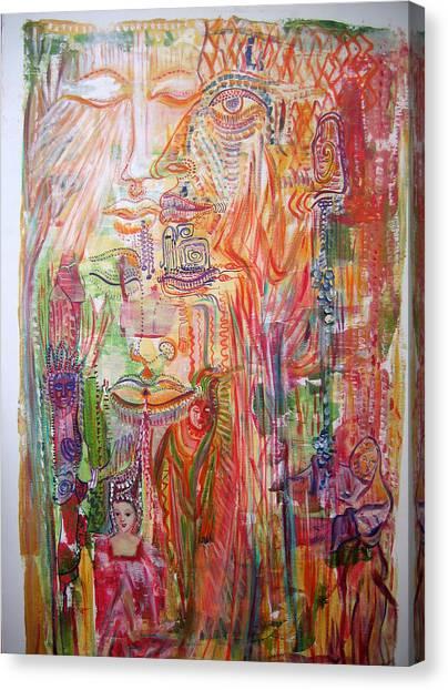 Souvenirs Canvas Print by Helene  Champaloux-Saraswati