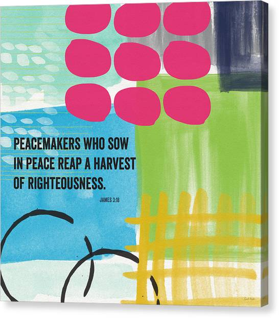 Mormon Canvas Print - Sow In Peace- Contemporary Christian Art By Linda Woods by Linda Woods