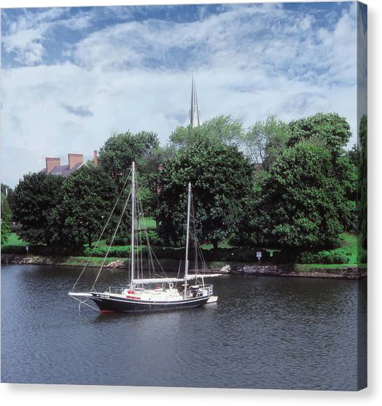 Canvas Print featuring the photograph Spa Creek Morning by Samuel M Purvis III