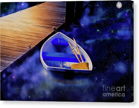 Space Boat Canvas Print