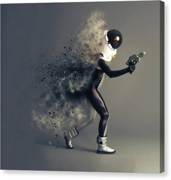 Space Suit Canvas Print - Space Cadet by Smart Aviation
