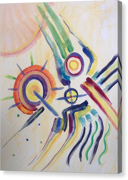 Outer Space Canvas Print - Space Dance by Gerda Lederer