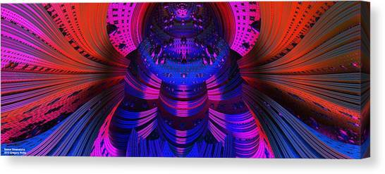 Si-fi Fractal Canvas Print - Space Dimensions  by Gregory Pirillo
