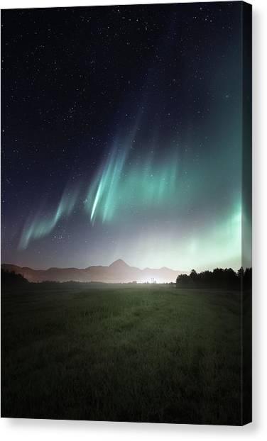Aurora Borealis Canvas Print - Space Farm by Tor-Ivar Naess