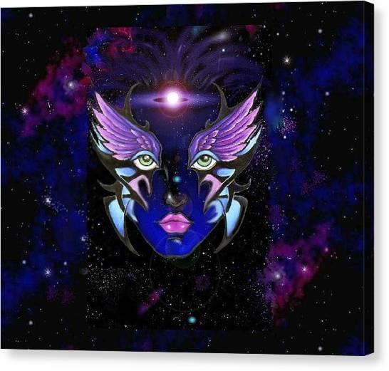 Space Goddess  Canvas Print by Carmen Daspit