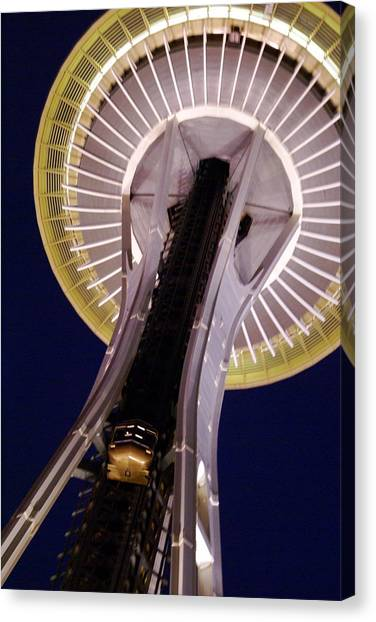 Space Needle Close-up Canvas Print by Sonja Anderson