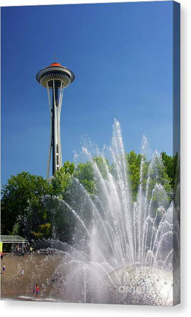 Space Needle In Seattle Canvas Print