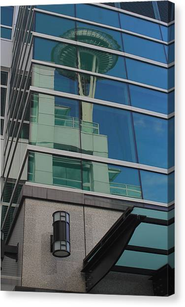 Space Needle Reflection Canvas Print